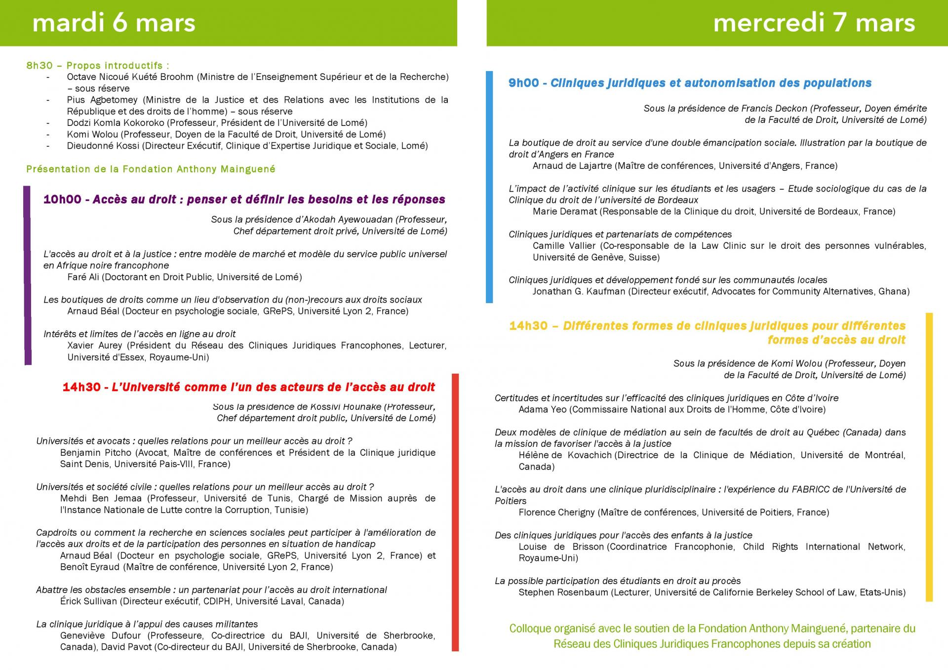 Lome2018 programme page 002