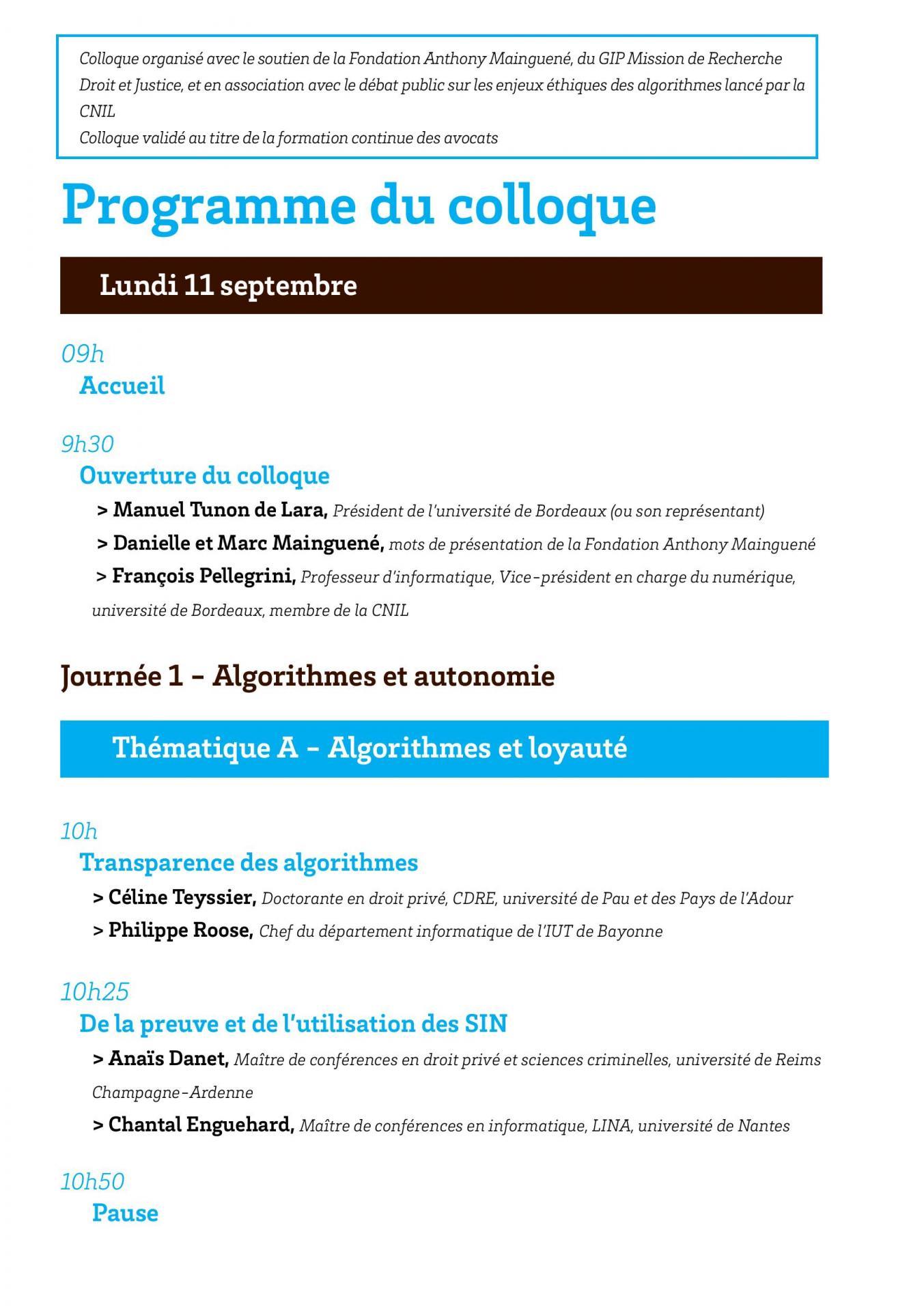 Programmes des convergences du droit et du numerique page 002