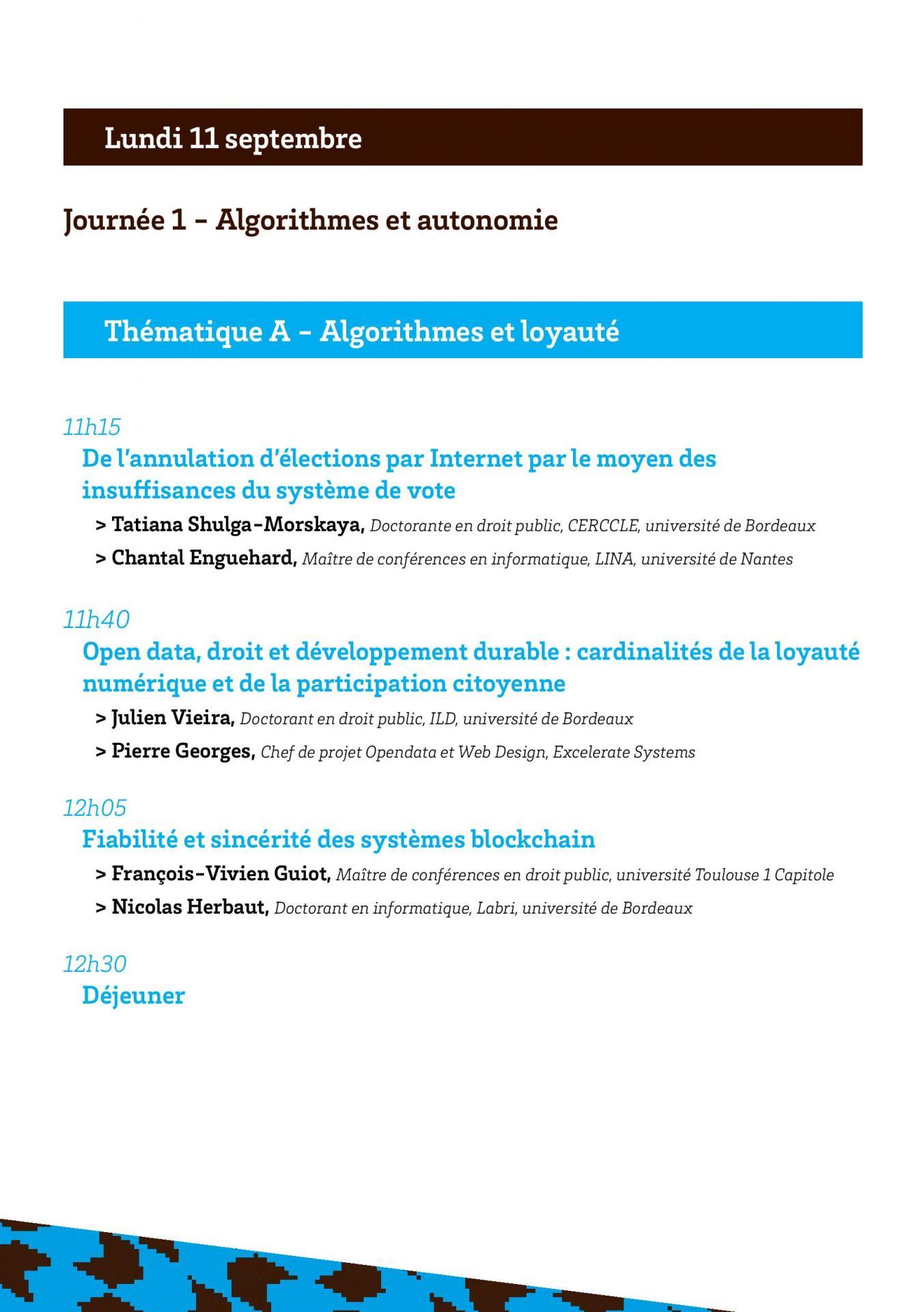 Programmes des convergences du droit et du numerique page 003