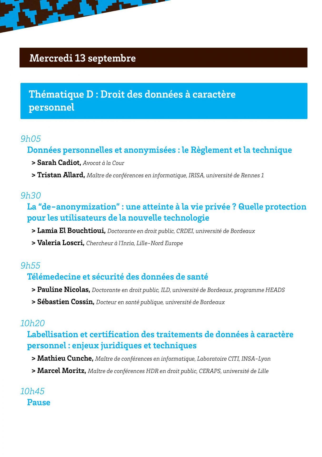 Programmes des convergences du droit et du numerique page 008