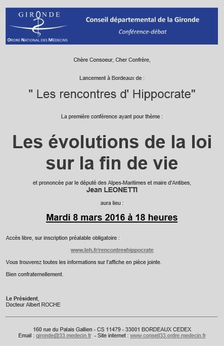 Rencontre d hippocrate 1