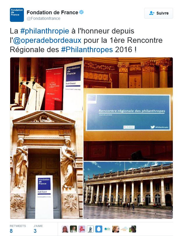 Twitte rencontre philanthopie bordeaux