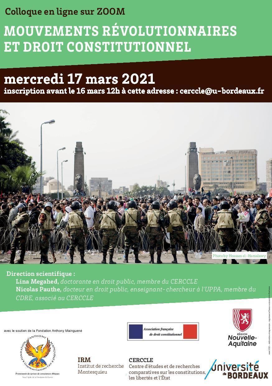 Mouvements revolutionnaires et droit constitutionnel colloque du 17 mar page 001